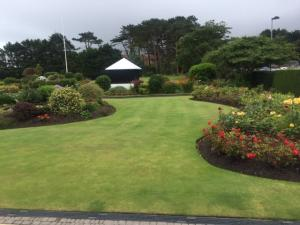 Impecibile flowers and garden at Royal County Down Golf Course in Northern Ireland
