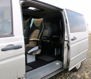 Golf Tour Bus - side door access