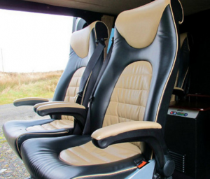 Interior of one of our fleet vehichles for golf and tourist holiday tours