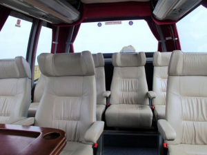 Tour bus interior - very comfortable transport option
